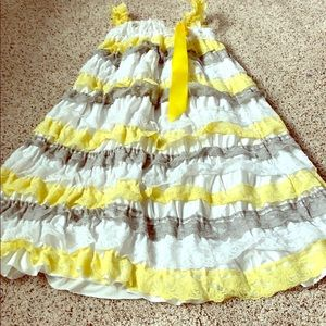 Other - Grey white and yellow little girls dress